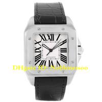 xl relógios homens venda por atacado-6 Estilo Mens Luxo 100 XL Prata Dial Aço Preto Strap Assista W20073X8 W200728G W20107X7 W200737G W20072X7 W200728 Relógios Automáticos Masculinos
