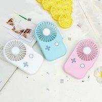 klimagerät handlüfter großhandel-Mini tragbare Handheld USB wiederaufladbare Lüfter einzigartige Spielkonsole Form Sommer Klimaanlage Lüfter mit Lanyard für Outdoo