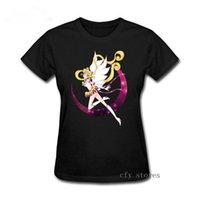 camiseta mulher marinheiro venda por atacado-Menina Eterna Sailor Moon Impressão Feminino T Shirt Mulheres 2019 Novo Verão de Manga Curta Casual Roupas Tee Tops Tshirt