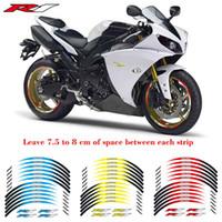 yamaha yzf r1 al por mayor-Creativos de transformación de motocicletas película accesorios de la etiqueta engomada del neumático pegatinas reflectantes Adhesivos decorativos únicos para YAMAHA YZF R1