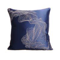 ingrosso cinesi cuscini di seta ricamati-High-end di lusso elegante Nuovo cinese Hgh precisione geometrica astratta raso di seta mogano sedie Divano cuscini ricamati Pillow1