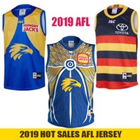 ingrosso football jerseys-2019 West Coast Eagles Guernsey Adelaide Crows Gilet Jersey Eddie Betts 300th senza maniche Australian Rules Football AFL Maglie Taglia S-3XL