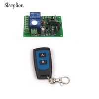 transmissor 2ch rf venda por atacado-Sleeplion 12 V 10A Canal 2CH RF Sistema de Controle Remoto Sem Fio Interruptor 2 Transmissor + Receptor ON / OFF 315 MHz 433 MHz