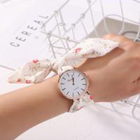 ginebra relojes florales al por mayor-Ginebra Moda Señoras Reloj Floral Correa Pulsera Reloj Tela Casual Mujeres Relojes de pulsera de Cuarzo Dial Blanco para mujer