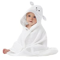 Wholesale hooded towels toddlers resale online - Organic Bamboo Baby Hooded Towel Ultra Soft and Super Absorbent Toddler Hooded Bath Towel with Cute Lamb Face Design Great I
