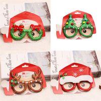 nette partygläser großhandel-Weihnachten Brille-Rahmen-nette Karikatur-Kinder-Brille Erwachsener Party Dress Up Artikel Urlaub Geschenke 2 1RQ UU