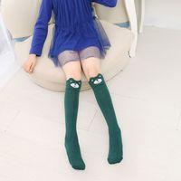 лиса колено высокие носки для малышей оптовых-Multi-color Baby Girls Cartoon Cute Socks Print Animal Cotton Knee High Long  Cozy Socks For Toddler Girl Clothing New