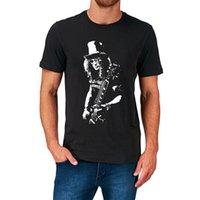vintages t-shirt hip hop großhandel-Schrägstrich Pistolen Rosen T Shirt Retro Vintage Rock Geburtstagsgeschenk Geschenk 2019 neue Sommer Kurzarm Männer Hip Hop T-Shirt