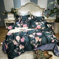 Wholesale purple egyptian cotton bedding for sale - Group buy Pastoral style Bedding Set Kid Girls Adult Linen Soft Duvet Cover Pillowcase Bed Sheet Queen king size egyptian cotton bed set