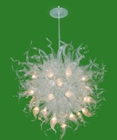 Wholesale art deco gallery online - Excellent High Hanging Lighting Chandelier LED Light source Unique Design Splendid Gold Red Gallery Unique Murnao Glass Chandelier Lighting