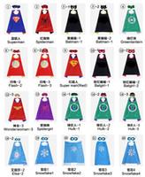 films de noël enfants achat en gros de-102 style capes de super-héros en satin pour enfants avec masque - film de dessins animés de costumes de héros superbes habillage de cadeaux de Noël d'anniversaire Halloween