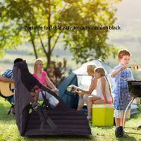 freizeitbeutel groihandel-Tragbares Outdoor Park Klappstuhl mit Rückenpolster Netztasche Strand Moisture Folding Kissen Freizeit Barbecue Stuhl