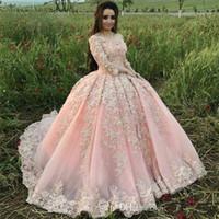 Vintage Sweet 16 Light Pink Quinceanera Vestidos De Baile Vestido De Fiesta Apliques De Hombros Flores De Pétalo Vestidos De Noche Vestido De 15 Años