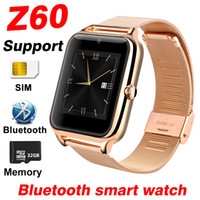 Wholesale 32gb tf card for android for sale – best Z60 Smart Watch Men Women SIM Card Support GB TF Memory Bluetooth Clock Phone Watch Metal Fitness Bracelet A1 Y1 Smartwatch Kids Watches