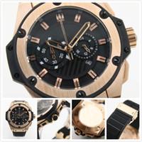 relojes de cronógrafo de cuarzo rey al por mayor-Proveedor de la fábrica relojes de PP de gran tamaño oro rey reloj de cuarzo cronógrafo cronómetro reloj de hombre vestido de los relojes de pulsera