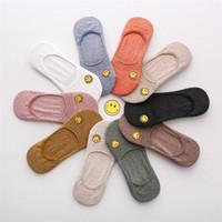 sonrisa de boca al por mayor-MOQ 10pairs Smile Face Sock Slippers para niñas 2019 nuevos diseños de boca baja nave calcetines envío gratis