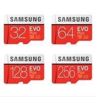 samsung tarjeta de 256 gb al por mayor-SAMSUNG Marca Tarjeta Micro SD Tarjeta de memoria 32GB clase 10 EVO + microSD 256GB 128GB 64GB EVO Plus TF Tarjeta de memoria