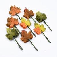 künstliche seidenblätter großhandel-12 stück Künstliche Blatt blume Silk Green Leaves für party hochzeit dekoration Scrapbooking Handwerk Gefälschte Blume künstliche pflanzen