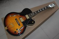 Wholesale hollow body guitar l5 for sale - Top Quality new L5 custom golden hollow jazz electric guitar