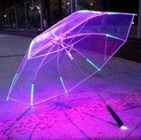 neue bühnenbeleuchtung großhandel-Neue regenschirm mit led regenschirmen taschenlampe bühne prop 8 rippe leuchten taschenlampe farbwechsel ssa44
