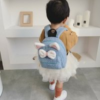 Wholesale small baby girl backpack for sale - Group buy 2019 Fashion Trend Toddler Kid Cute Girls Bowknot Backpack New Small Lovely Outdoor Bag Baby Casual Solid Zipper Tote Satchel