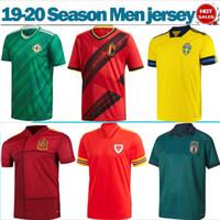 futbol oyunları toptan satış-Avrupa oyunu milli takım 2020 İtalya İsveç Belçika Futbol Formalar 19/20 Erkekler futbol gömlek kısa kollu İspanya İzlanda Futbol üniforma
