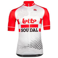 Wholesale lotto men cycling jersey for sale - Group buy 2019 LOTTO SOUDAL PRO TEAM COLORS ONLY SHORT SLEEVE ROPA CICLISMO SHIRT CYCLING JERSEY CYCLING WEAR SIZE XS XL