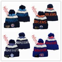 ingrosso cappelli con cappuccio montato a snapback-Edmonton Oilers Berretti Cappelli Montreal Canadiens Cappello di lana Toronto Maple Leafs Berretti Winnipeg Jets Caps Un formato misura tutti