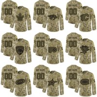 Wholesale salute service ice jerseys resale online - Coutom any name any number Maple Leafs penguins Flyers canadiens Stars flames predators Panthers Hurricanes Camo Salute to Service jerseys