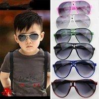ingrosso occhiali da sole freschi per le ragazze-Outdoor Sport Bambini Occhiali da sole Boy And Girl Occhiali da sole a prova di raggi ultravioletti Cool Frog Mirror 6 colori Fashion 2 6xf D1