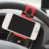 benutze telefon gps großhandel-Auto Lenkrad Telefonbuchse Halter SMART Clip Auto-Fahrradhalterung für iPhone6 iPhone 6 Plus S5 S4 HINWEIS 2 einfache Verwendung GPS