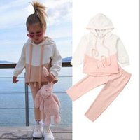 Wholesale kids clothing pants jumpers for sale - Group buy 2020 Spring Autumn Baby Girls Tracksuit Children Clothing Set Hoodie Jumper Pants Trousers Hot Sale Kids Outfit