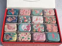 ingrosso lattine per animali-32pcs / lot scatola creativa del contenitore di latta del fenicottero scatole di immagazzinaggio del metallo dell'animale di cerimonia nuziale contenitore di caramella con il coperchio Favori di partito