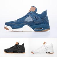 büyük siyah mavi toptan satış-Büyük Basketbol Ayakkabıları Boyutu Bize Için 13 Erkek Spor Desinger Sneakers Beyaz Siyah Mavi Mor Beyaz Siyah Mavi Denim Jean Royalty Raptors