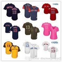 beyzbol formaları kırmızı toptan satış-2019 Red Sox Formalar # 13 Hanley Ramirez Formalar erkekler # KADIN # GENÇLİK # Erkekler Beyzbol Forması Görkemli Dikişli Profesyonel spor