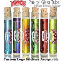 ingrosso roll cartucce-DANKWOODS Tubo di vetro vuoto Legno Sughero Consigli Cartuccia Asciutto a base di erbe RAW Pre-roll Flavors Adesivi Confezione Packwoods Moonrock e cigs Vapor
