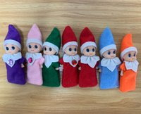 Wholesale elf movie gifts resale online - 2019 Newest Styles Christmas Mini Christmas Baby Elf Doll Holiday Kids Christmas New Year Gift
