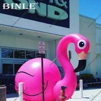 Wholesale fire birds resale online - Advertising pink giant Inflatable Flamingo model blow up inflatable fire bird For wedding party Decoration