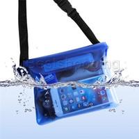cajas móviles a prueba de agua al por mayor-Para el paquete de cintura universal Funda impermeable a prueba de agua Bolsa impermeable para el bolsillo Bolsillo seco para teléfonos móviles Teléfonos móviles Samsung iphone LG