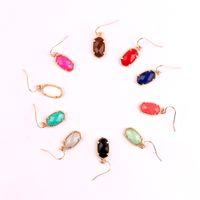 ingrosso perline di conchiglie-Kendra Style Designer ispirato Abalone Shell perline sfaccettate in pietra Piccolo carino ovale Ciondola pendenti per le donne