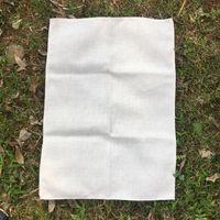 Blank Polyester Linen Blend Tea Towel Plain Burlap Decorative Kitchen Towel for DIY Sublimation