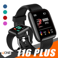 Wholesale iphone plus rates online - 116 Plus Smart watch Bracelets Fitness Tracker Heart Rate Step Counter Activity Monitor Band Wristband PK PLUS for iphone Android