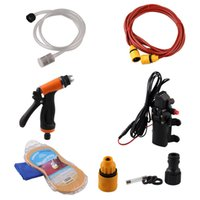 Wholesale spray 12v resale online - Portable V Jet Spray Car Wash Washer Tool High Pressure Electric Water Pump Kit Auto Wash Maintenance Tool Accessories