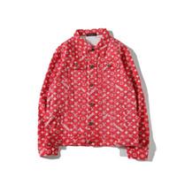 оранжевая свадебная свадьба оптовых-2018 новый supremme сильнейший совместный бренд показать полный логотип письмо куртка джинсовая куртка