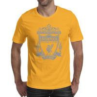 gelbe grafische t-shirts großhandel-Männer Design Druck The Reds Brustkrebs rosa gelb T-Shirt Druck Unterhemd Grafikdesigner Freunde Shirts Slogan T-Shirt Mode