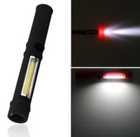 Wholesale tactical pen led light resale online - COB LED Mini Pen Multifunction led Torch light cob Handle work flashlight cob square Work Hand Torch Flashlight gifts With Magnet