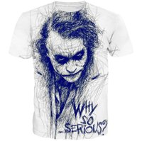 Wholesale Ugly Clown D Designer Tshirt Mens Clothes Fashion Teenager Why so serious Tops Short Sleeved Tees