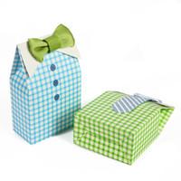 pajarita baby shower al por mayor-50pcs My Little Man Blue Green Bow Tie Birthday Boy Favor de la ducha del bebé Caja de dulces para el favor de la boda Fiesta de cumpleaños