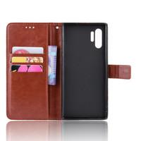 cubre estilo galaxia nota al por mayor-Para Samsung Galaxy Note 10 Plus Estuche Note10 + Estilo billetera Cubierta de cuero PU brillante para Samsung Galaxy Note 10+ 10plus Estuches para teléfono