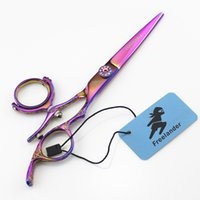 Wholesale hairdresser hair scissors resale online - Japan c Scissors for Hairdressers Barber Shop Supplies Titanium Professional Hairdressing Scissors for Cutting Hair